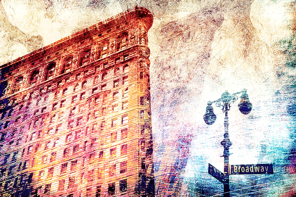 Abstract Flatiron building NYC
