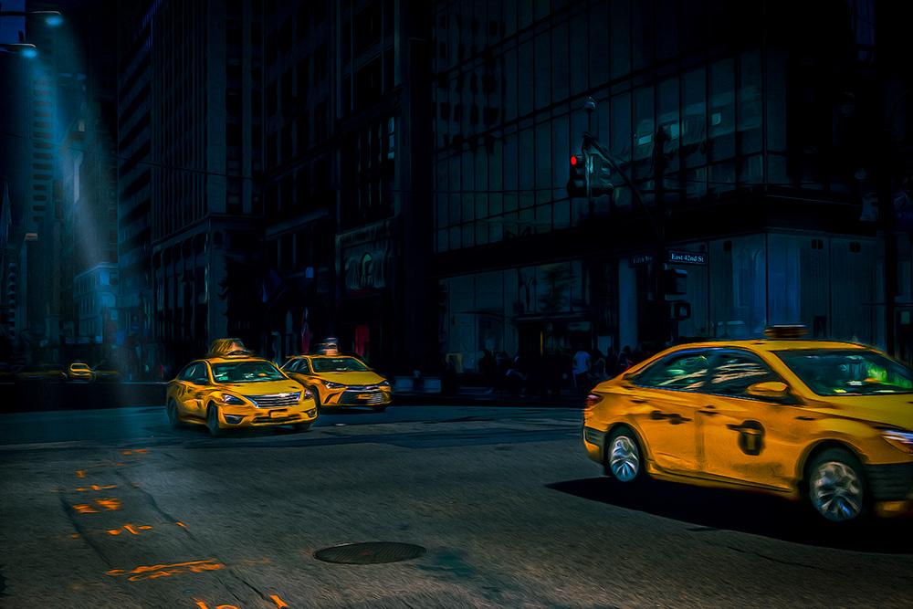 De taxi's van NYC