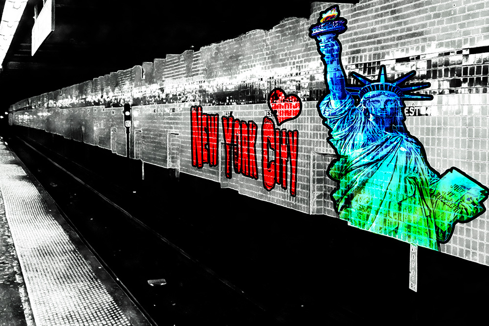 NYC graffiti metrostation