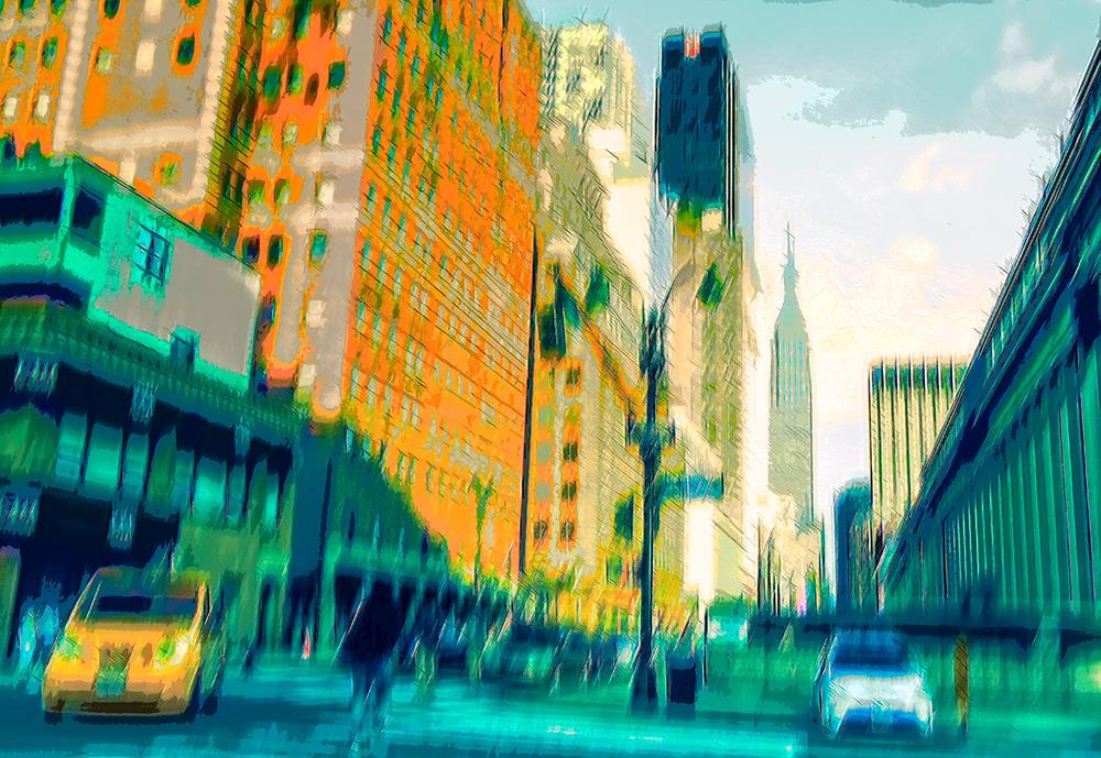 Abstract beeld van een straat uit NYC